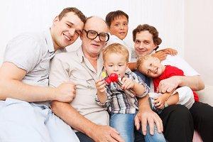 Big family. Generations.