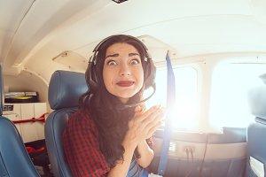 Fear of flying woman