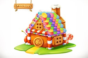 Sweet house. Vector icon