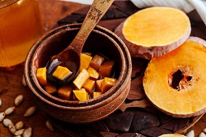sweet pumpkin with honey