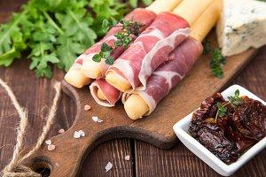 Appetizer with prosciutto