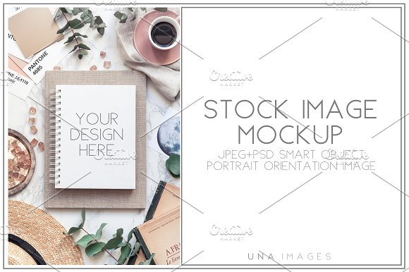Download Notepad mockup with coffee.