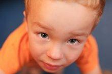 Portrait of cute 3 year-old boy