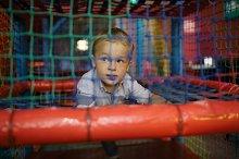 Boy having fun playground