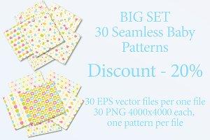 BigSet - 30 seamless baby patterns