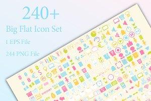 240+ Flat Icons
