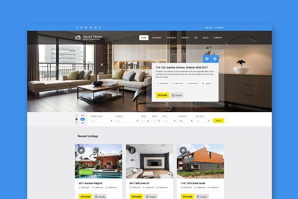 Sweethome- Real Estate HTML Template