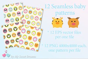 Seamless animal patterns +BONUS