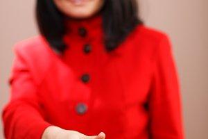 Woman offering her hand handshake