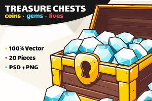 Coins, Gems & Lives - Chest Icons