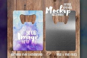 Rectangle bottle opener mockup