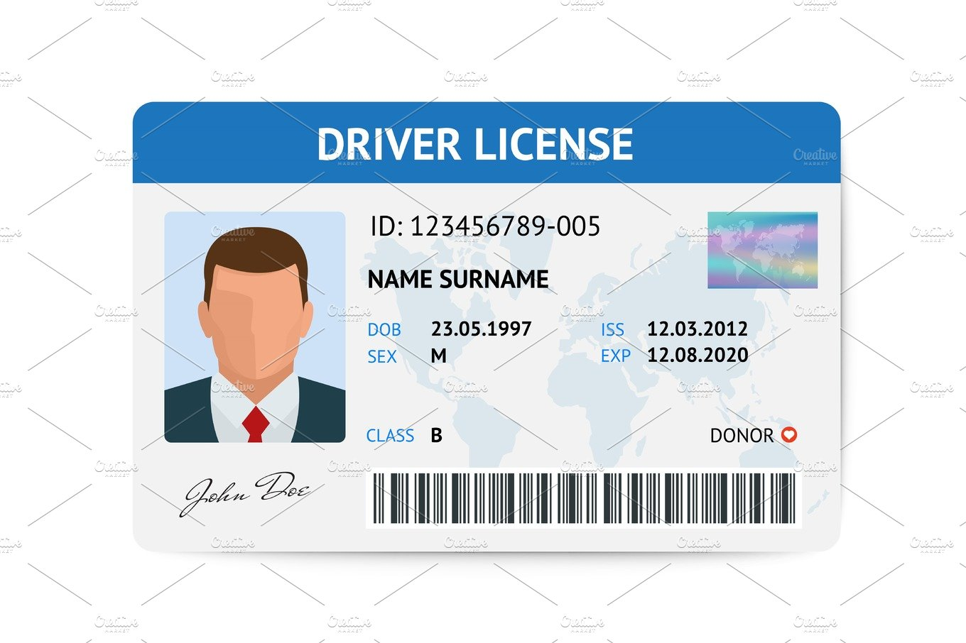 Drivers License Photos Graphics Fonts Themes Templates