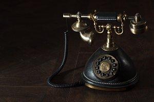 Old vintage rotary phone