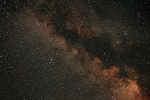 Night sky with stars. Milky Way Galaxy.
