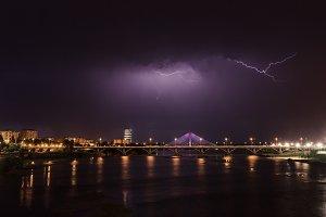 Lightning storm over Badajoz