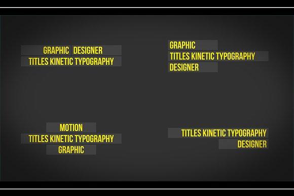 Titles Typography