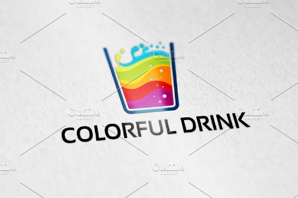 Colorful Drink Logo Template