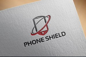 Phone Shield Logo template designs
