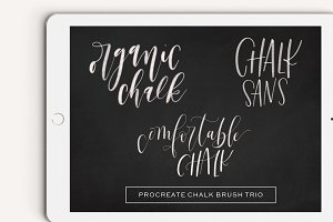 Procreate Chalk Brush Trio