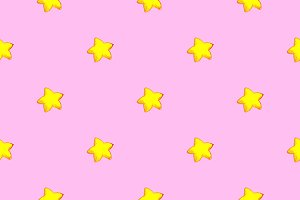 Star sketch seamless pattern vector