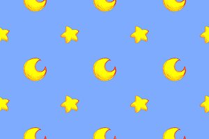 Moon star seamless pattern vector
