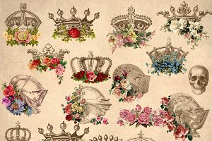 Floral Crowns Clipart