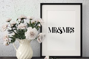 Mr. & Mrs. Vinyl Cut File