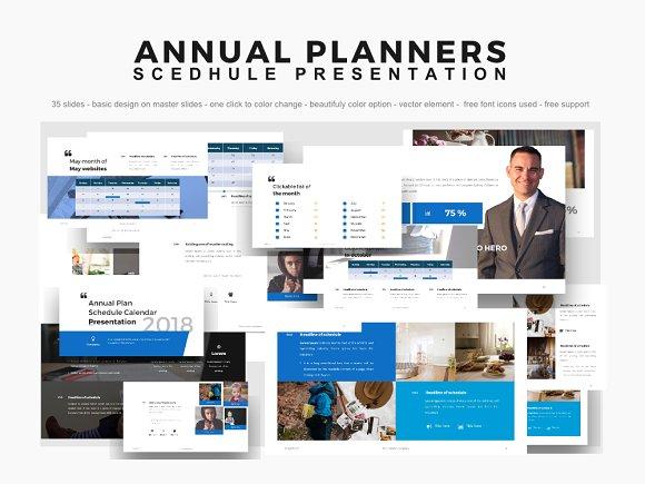 annual planner 2018 presentation ppt presentation templates