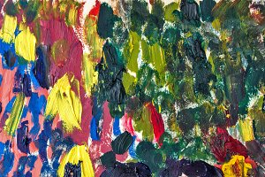 abstraction by oil paints