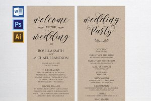 Wedding Program Wpc 114
