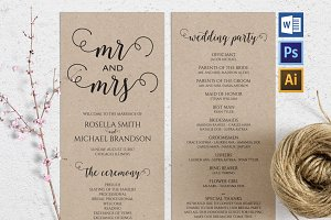Wedding Program Wpc 116