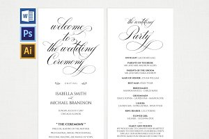 Wedding Program Wpc 118