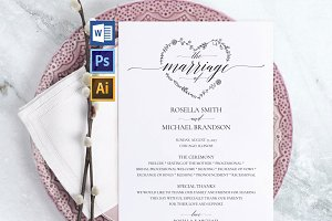 Wedding Program Wpc 119