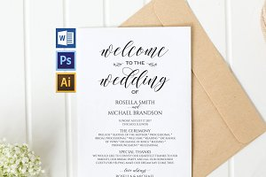 Wedding Program Wpc 120