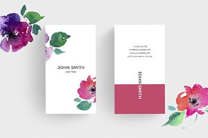 Floral Minimal Business Card 1
