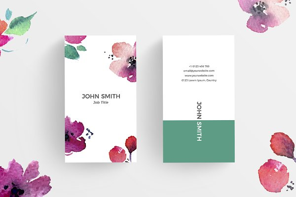 Floral Minimal Business Card 2
