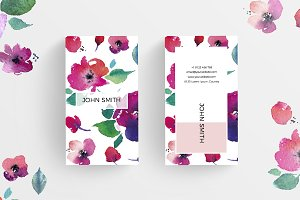 Floral Minimal Business Card 3