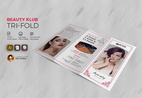 Beauty Salon Tri-Fold in Brochure Templates