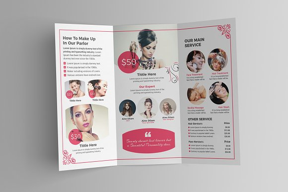 Beauty Salon Tri-Fold in Brochure Templates - product preview 1