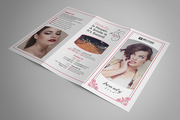 Beauty Salon Tri-Fold in Brochure Templates - product preview 2