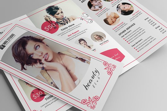 Beauty Salon Tri-Fold in Brochure Templates - product preview 3