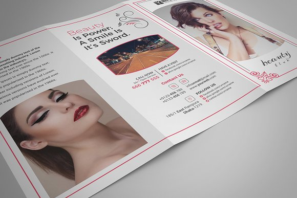 Beauty Salon Tri-Fold in Brochure Templates - product preview 4