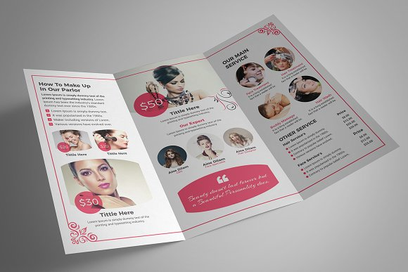 Beauty Salon Tri-Fold in Brochure Templates - product preview 7