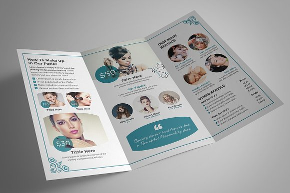 Beauty Salon Tri-Fold in Brochure Templates - product preview 8