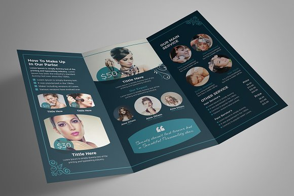 Beauty Salon Tri-Fold in Brochure Templates - product preview 9