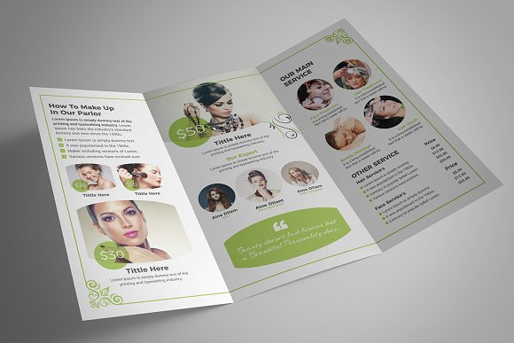 Beauty Salon Tri-Fold in Brochure Templates - product preview 10