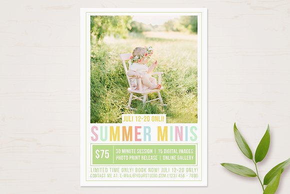 Summer Mini Session Template in Templates