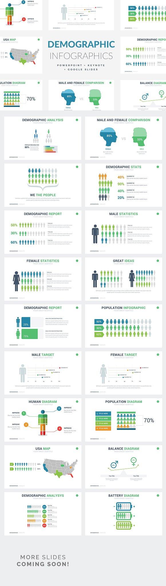 Demographic Infographics PPT KEY