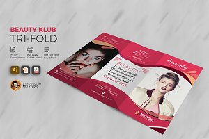 Beauty Club Salon Tri-Fold