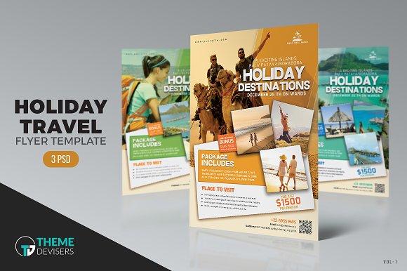 Travel Agency Flyer Flyer Templates Creative Market